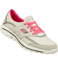 Women's Walk 2 Golf Spikeless Golf Shoes-Grey/Hot Pink (#13646)