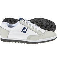 Men's GreenJoys Casual Golf Shoes - White/Grey (FJ#45309)