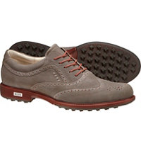 Men's Tour Hybrid Wingtip Golf Shoes - Dark Clay
