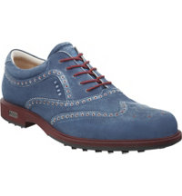 Men's Tour Hybrid Wingtip Golf Shoes - Marine/Port