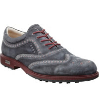Men's Tour Hybrid Wingtip Golf Shoes - Black/Port