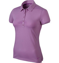 Women's Mini Stripe Short Sleeve Polo