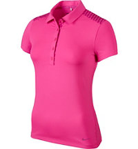 Women's Gingham Mix Short Sleeve Polo