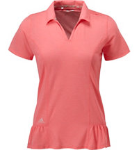 Women's Floral Peplum Short Sleeve Polo