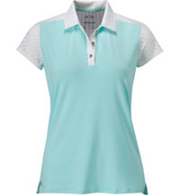 Women's Stipe Mix Short Sleeve Polo