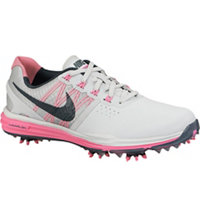 Women's Lunar Control III Golf Shoes - Pure Platinum/Charcoal/Pink Pow