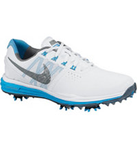 Women's Lunar Control III Golf Shoes - White/Cool Grey/Blue Lagoon