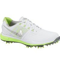 Women's Lunar Control III Golf Shoes - White/Metallic Silver/Volt