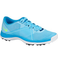 Women's Lunar Summer Lite II Spikeless Golf Shoes - Clearwater/Flash Lime/White/Blue Lagoon