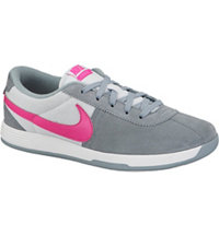 Women's Lunar Bruin Spikeless Golf Shoes - Dove Grey/Pink/Pure Platinum/White