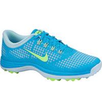 Women's Lunar Empress Spikeless Golf Shoes - Blue Lagoon/Flash Lime/Ice Cube Blue