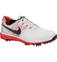 Men's Lunar Control III Golf Shoes - Pure Platinum/Black/Bright Crimson