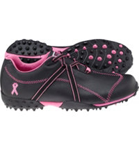 Women's Closeout M:Project Spikeless Golf Shoes - Black/Pink (FJ# 95663)