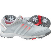 Women's adicross TR Golf Shoes - Clear Grey/Running White/Flash Red