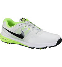 Men's Lunar Command Golf Shoes - Pure Platinum/Black/Volt