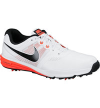 Men's Lunar Command Golf Shoes - Whte/Black/Crimson