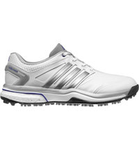 Women's adicross Boost Golf Shoes - Running White/Silver Met/Flash Purple