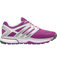 Women's Adipower Sport Boost Golf Shoes - Flash Pink/Metallic Silver/Running White