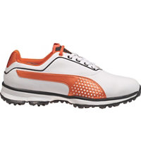 Men's Titan Lite Spiked Golf Shoes - White/Black/Vibrant Orange