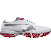 Women's SunnyLite Spikeless Golf Shoes - White/Puma Silver/Raspberry