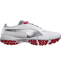 Women's SunnyLite Spikeless Golf Shoes - White/Puma Silver/Raspberry