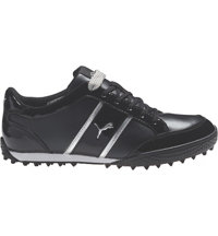 Women's Monolite Cat Spikeless Golf Shoes - Black/White/Puma Silver