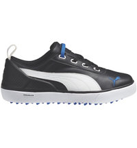 Junior's Monolite S Spikeless Golf Shoes - Black/White/Strong Blue