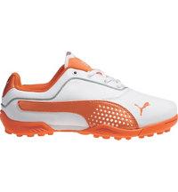 Junior's Titan Tour Spiked Golf Shoes - White/Vibrant Orange