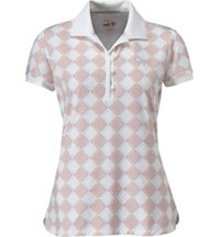 Women's Argyle Glitch Short Sleeve Polo
