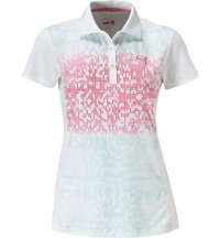 Women's Glitch Block Short Sleeve Polo