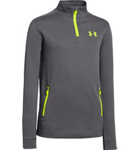 Juniors Quarter-Zip Long Sleeve Pullover