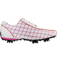 Women's Closeout LoPro Collection Golf Shoes - White/Raspberry/Orange (FJ 97222)