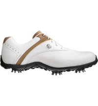Women's LoPro Collection Golf Shoes - White/Taupe (FJ 97173)