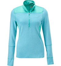 Women's 1/4 Zip Long Sleeve Mock