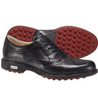 Men's Tour Hybrid Wingtip Golf Shoes - Black/Black