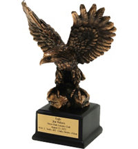 Personalized Bronze Eagle Trophy