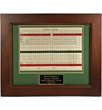 Personalized Scorecard Display Frame