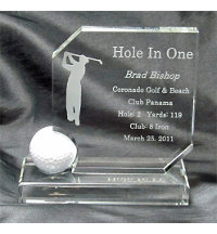 Personalized Crystal Hole In One Award