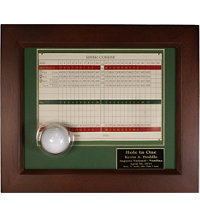 Personalized Hole In One Framed Ball and Scorecard