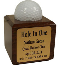 Personalized Hole In One Cube