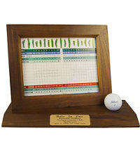 Personalized Hole In One Scorecard Desktop Display
