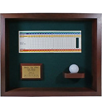 Personalized Hole-In-One Ball & Scorecard Shodow Box Display
