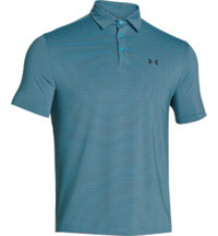 Men's Elevated Heather Stripes Short Sleeve Polo