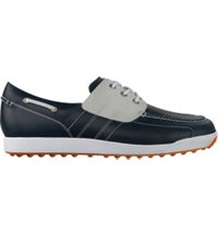 Men's Closeout Contour Casual Golf Shoes - Marine/Off White (FJ# 54348)