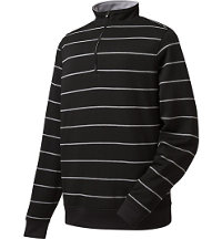 Men's Pique Fleece Half-Zip Stripe Pullover