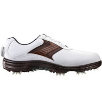 Men's Contour Series BOA Golf Shoes - White/Brown/Brown (FJ# 54189)