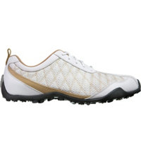 Women's Superlite Spikeless Golf Shoes - White/Tan/White (FJ# 98847)