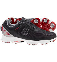 Men's HyperFlex BOA Golf Shoes - Black/Red (FJ#51078)