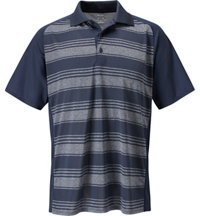 Men's Tour Select Jacquard Stripe Short Sleeve Polo