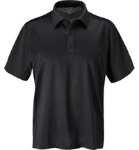Men's Tour Select Solid Jacquard Short Sleeve Polo